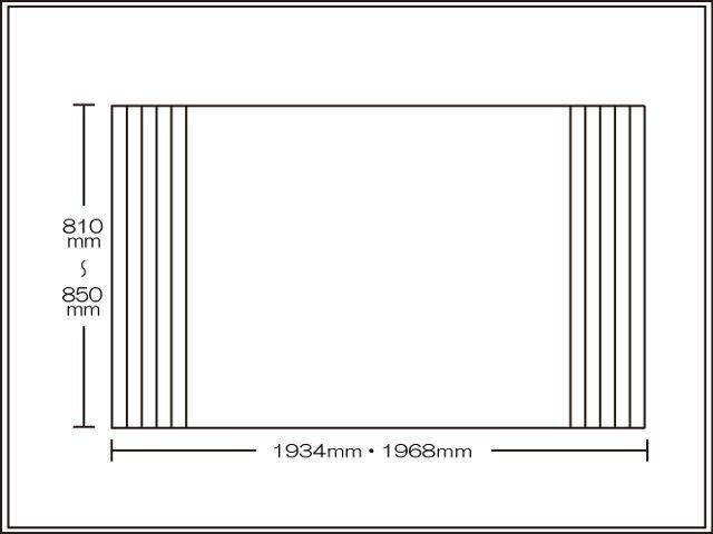 【送料無料】くるくる巻ける巻きふた オーダーシャッターふた810~850×1934・1968mm