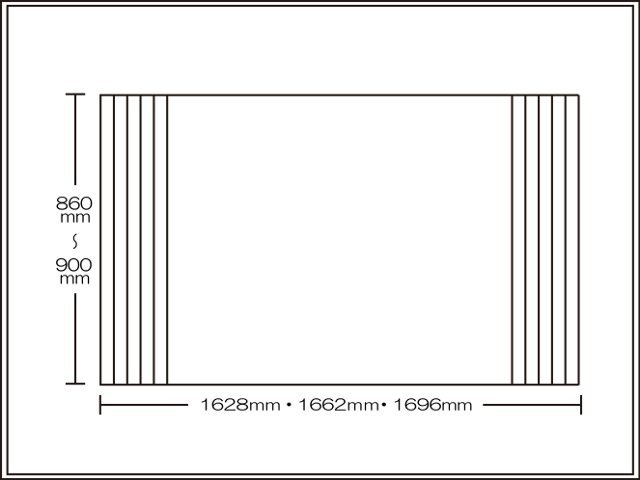 【送料無料】くるくる巻ける巻きふた オーダーシャッターふた860~900×1628・1662・1696mm