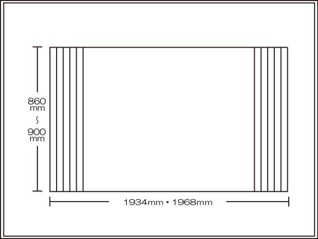 【送料無料】くるくる巻ける巻きふた オーダーシャッターふた860~900×1934・1968mm