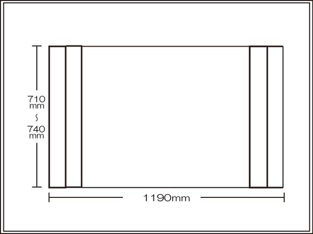 【送料無料】コンパクト収納!折りたたみふた ラクネス オーダー710~740×1190mm用 アイボリー
