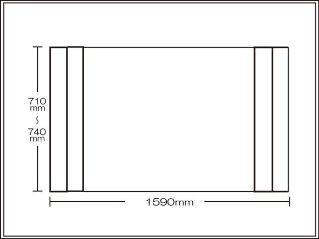 【送料無料】純銀のチカラでお手入れカンタン!オーダーAg折りたたみ風呂ふた660~690×1590mm用