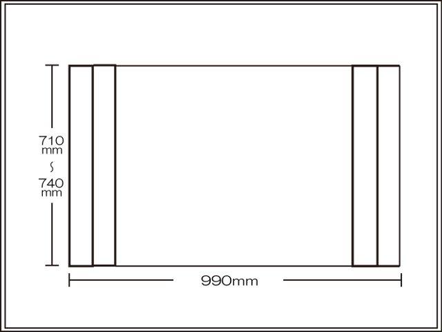 【送料無料】純銀のチカラでお手入れカンタン!オーダーAg折りたたみ風呂ふた710~740×990mm用