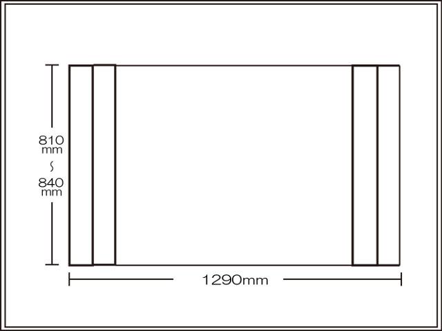 【送料無料】純銀のチカラでお手入れカンタン!オーダーAg折りたたみ風呂ふた810~840×1290mm用