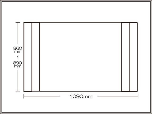 【送料無料】コンパクト収納!折りたたみふた ラクネス オーダー860~890×1090mm用 アイボリー