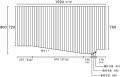 【送料無料】変形巻きふた 86.0×159.4cm