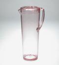 【アウトレット】【わけあり】【日本製】ガラスのような質感 耐熱グラスピッチャー1.2L クリアーピンク