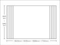 【送料無料】東プレ お掃除カンタン!オーダーイージーウェーブ 600~640×1603・1635・1668・1700mm