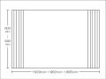 【送料無料】東プレ お掃除カンタン!オーダーイージーウェーブ 600~640×1929・1962・1995mm