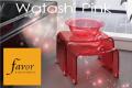 人気商品!【送料無料】~フェイヴァ/Favor~アクリル製お風呂いすS&お風呂ボウルのセット♪(ピンク)