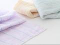 綿なのに泡立ちたっぷり♪ふんわりループ織り FUWARIボディタオル ブルー