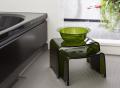 【送料無料】~フェイヴァ/Favor~アクリル製お風呂いすM&S&お風呂ボウルの3点セット♪(グリーン)