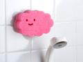 【日本製】お風呂掃除も可愛く!貼りつくバスクリーナー ピンク