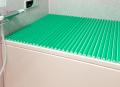 【送料無料】東プレ お掃除カンタン!カラーウェーブ風呂ふた M10 グリーン 70×100cm用