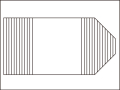 【送料無料】変形巻きふた右上下45度カット 73×145.8cm