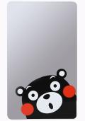 【送料無料】日本製ミラー 割れない鏡 ニューはるピタ 壁紙OK!くまモン(プリント)