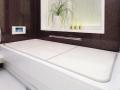 【送料無料】新色登場!ボードタイプの風呂ふた「センセーション」U10 68×98cm 2枚割 両面ホワイト