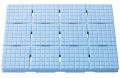 【送料無料】【日本製】軽〜いソフトすのこmini +セーフティ 44×60cm ブルー