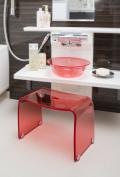新商品!【送料無料】〜フェイヴァ/Favor〜アクリル製お風呂いすM&お風呂ボウルのセット♪(ピンク)