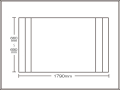【送料無料】コンパクト収納!折りたたみふた ラクネス オーダー660〜690×1790mm用 アイボリー