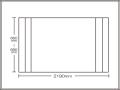 【送料無料】コンパクト収納!折りたたみふた ラクネス オーダー660〜690×2190mm用 アイボリー
