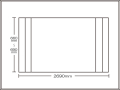 【送料無料】コンパクト収納!折りたたみふた ラクネス オーダー660〜690×2690mm用 アイボリー