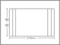【送料無料】コンパクト収納!折りたたみふた ラクネス オーダー660〜690×2790mm用 アイボリー