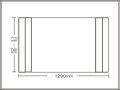 【送料無料】コンパクト収納!折りたたみふた ラクネス オーダー710〜740×1290mm用 アイボリー