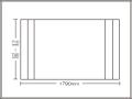 【送料無料】コンパクト収納!折りたたみふた ラクネス オーダー710〜740×1790mm用 アイボリー