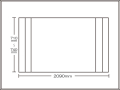 【送料無料】コンパクト収納!折りたたみふた ラクネス オーダー710〜740×2090mm用 アイボリー