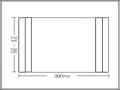 【送料無料】コンパクト収納!折りたたみふた ラクネス オーダー710〜740×990mm用 アイボリー