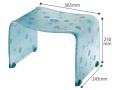 【送料無料】お手入れ簡単♪オシャレなアクリル製の風呂いす フィルロシュシュ バスチェアーM ペールブルー