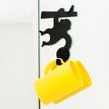 【水濡れOK!動物モチーフの貼ってはがせる吸着シート!かわいい洗面収納♪】貼り付くサルのコップ&ホルダー