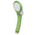 【ストップ機能付き バスルームを明るくポップに♪】ストップシャワーヘッド シャモジー(shamozy) ユニバーサルデザイン スケルトンイエローグリーン