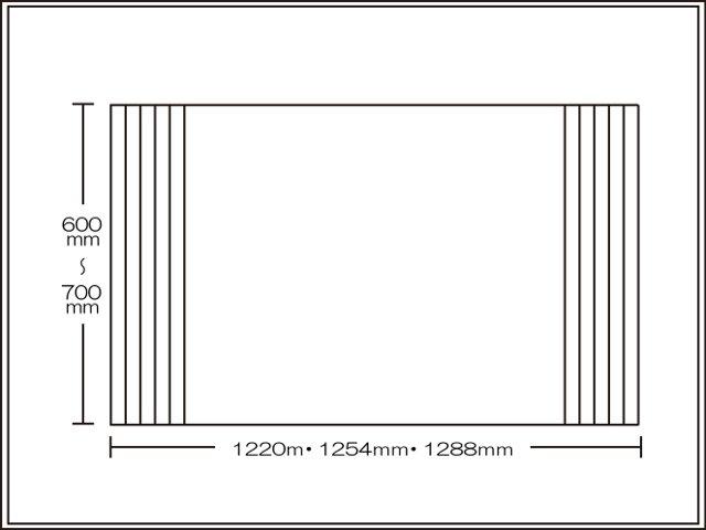【送料無料】くるくる巻ける巻きふた オーダーシャッターふた600~700×1220・1254・1288mm