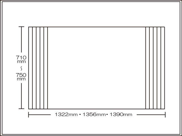 【送料無料】くるくる巻ける巻きふた オーダーシャッターふた710~750×1322・1356・1390mm