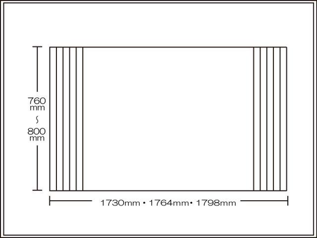 【送料無料】くるくる巻ける巻きふた オーダーシャッターふた760~800×1730・1764・1798mm