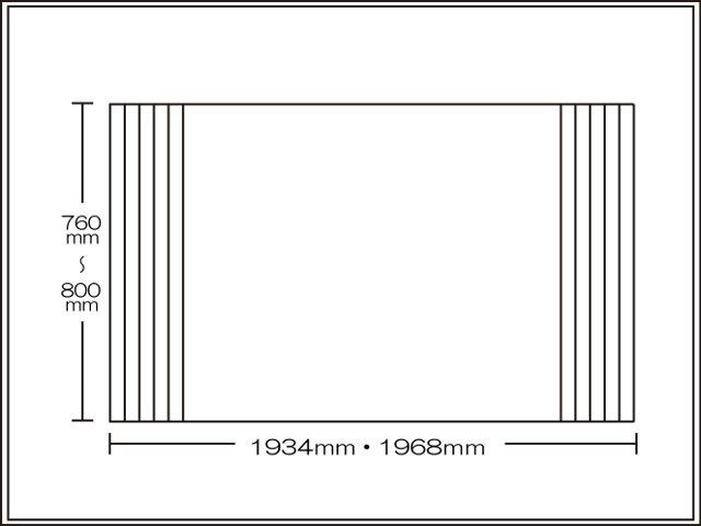 【送料無料】くるくる巻ける巻きふた オーダーシャッターふた760~800×1934・1968mm