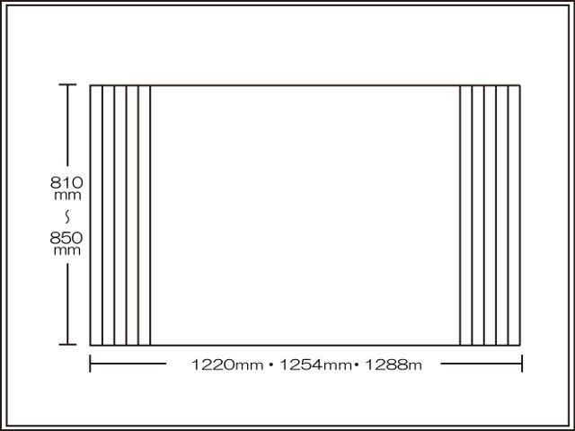 【送料無料】くるくる巻ける巻きふた オーダーシャッターふた810~850×1220・1254・1288mm