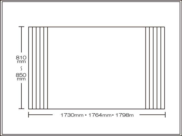 【送料無料】くるくる巻ける巻きふた オーダーシャッターふた810~850×1730・1764・1798mm