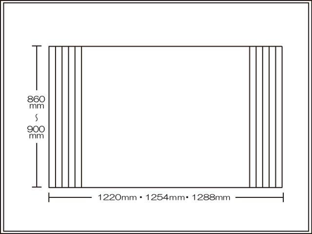 【送料無料】くるくる巻ける巻きふた オーダーシャッターふた860~900×1220・1254・1288mm