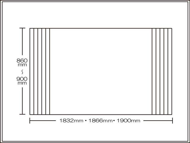 【送料無料】くるくる巻ける巻きふた オーダーシャッターふた860~900×1832・1866・1900mm