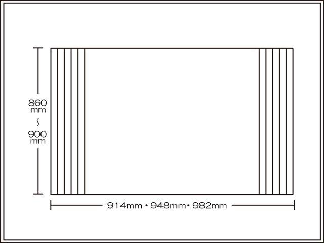 【送料無料】くるくる巻ける巻きふた オーダーシャッターふた860~900×914・948・982mm