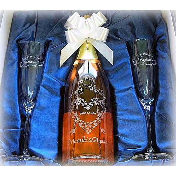 結婚祝いに名入れ ワインW ペア シャンパングラスBセット (スパークリング ウィスパーズ)