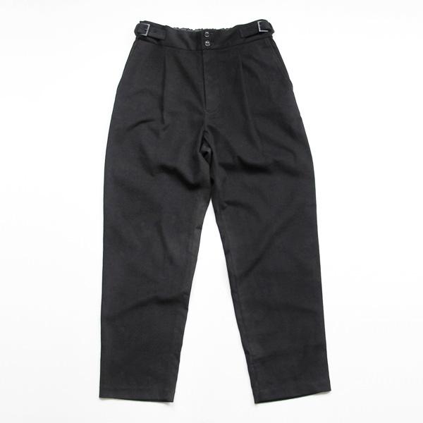 comm. arch. / Moleskin Bakled Trousers - Black