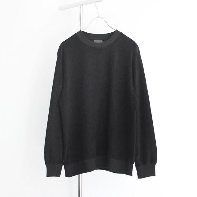 comm. arch. / Rec: Supima Pile Pullover - Black Out