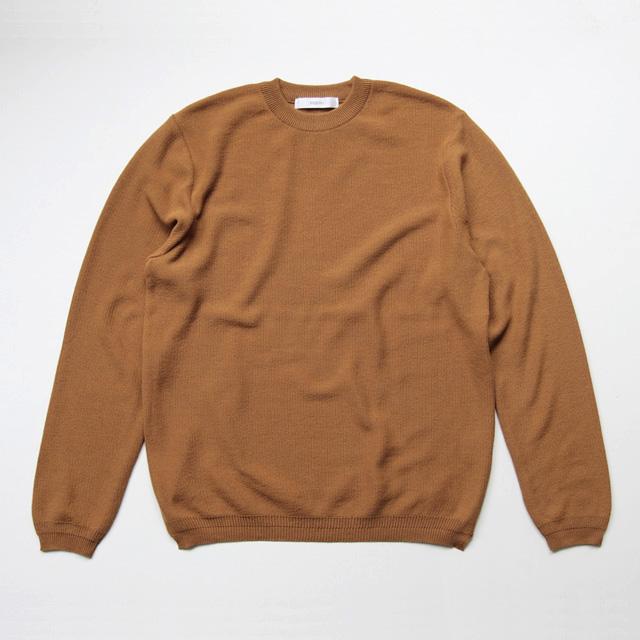 FUJITO / L/S Knit Tee - Brown Gold