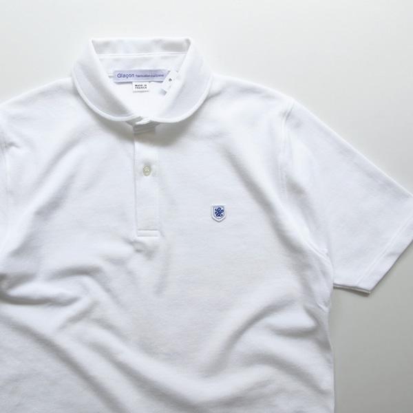 Glacon / Round Collar Polo Shirt - White