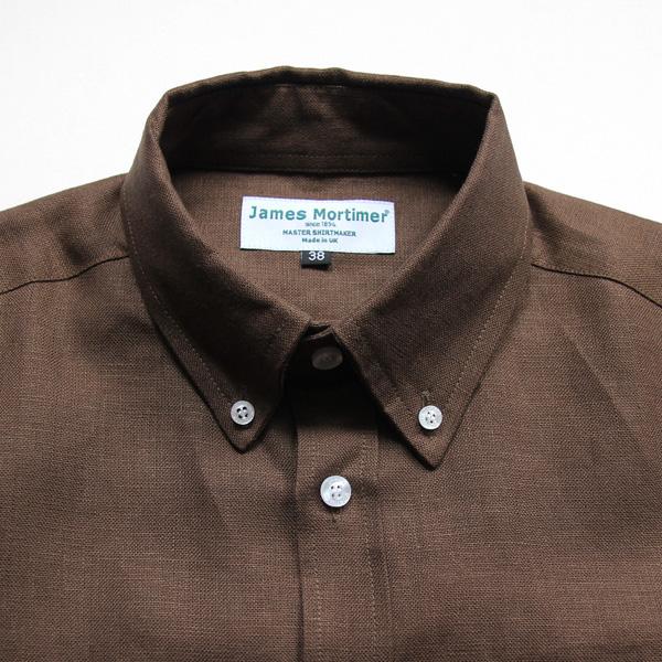 James Mortimer / B.D. Shirt - Heavy Linen - Sandlewood