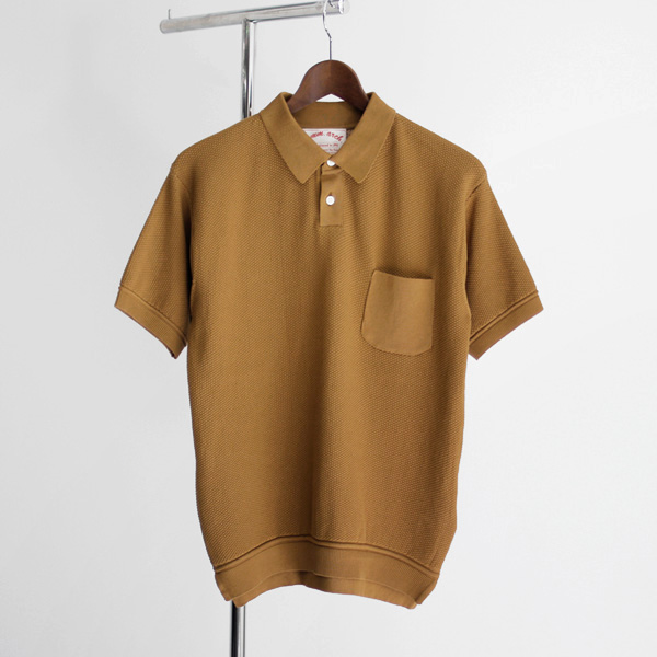<30% OFF> comm. arch. / Knitted Polo Moss Stetch - Yellow Dust