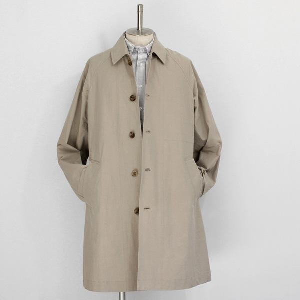 comm. arch. / Densely Woven Poplin Coat - Beige